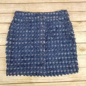 W by Worth Denim Frayed Skirt